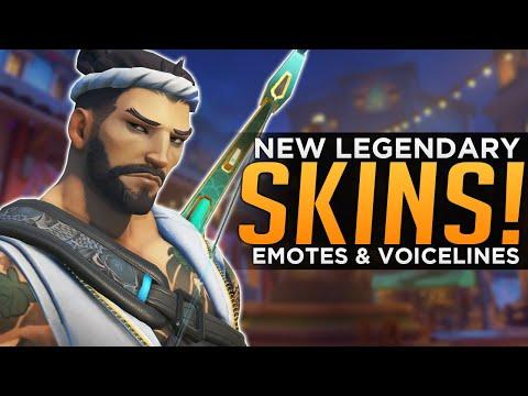 Overwatch: All NEW Legendary Skins, Emotes & Highlight Intros!
