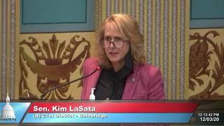 Sen. LaSata thanks intern for his service to the Senate