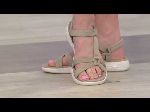 On the GO 600 Brilliancy Ankle Strap Sandal