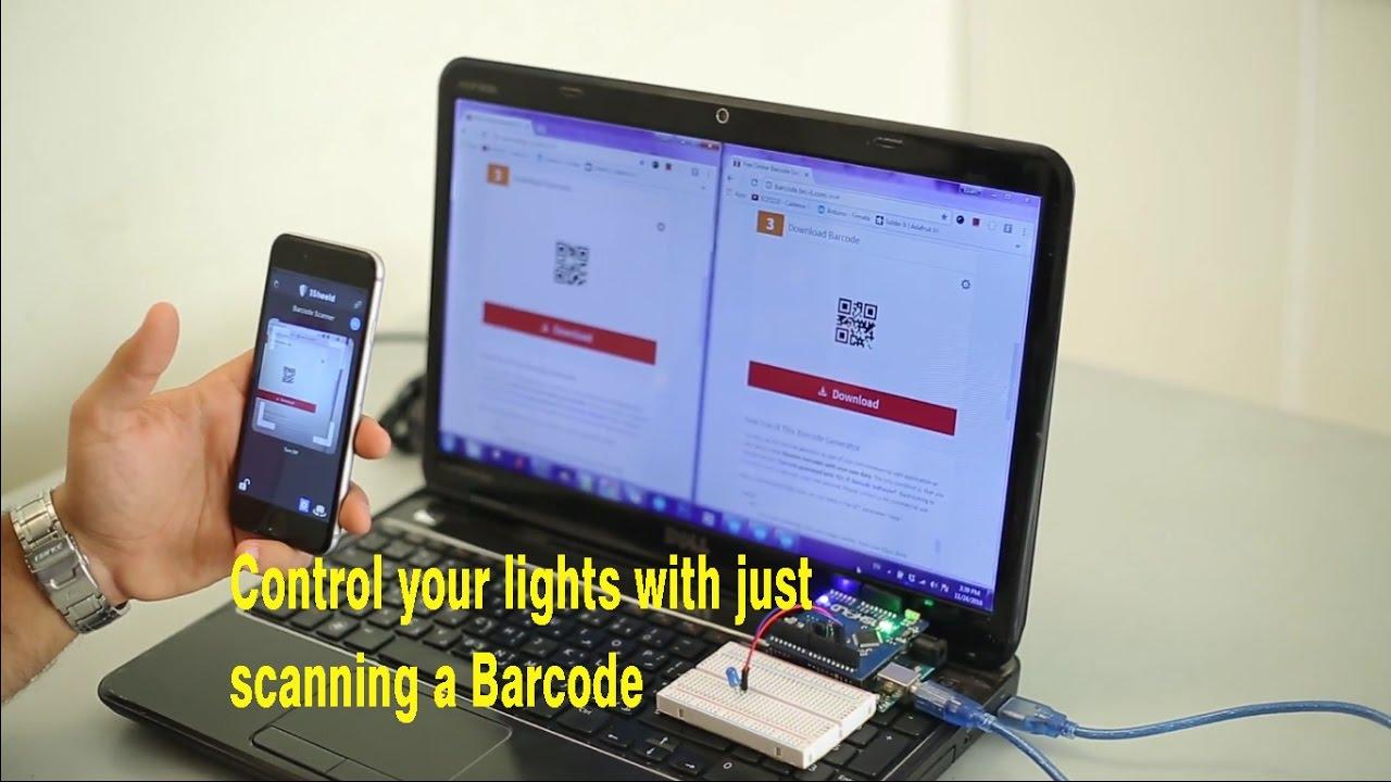 Arduino Barcode Scanner Shield acts as Arduino Shield via 1Sheeld
