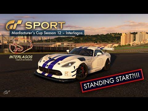 GT Sport - Manufacturers Cup S12 - Interlagos STANDING START?!!!