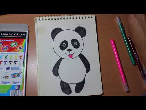 Como Dibujar Un Oso Panda Para Niños Drawing A Panda Bear For Kids