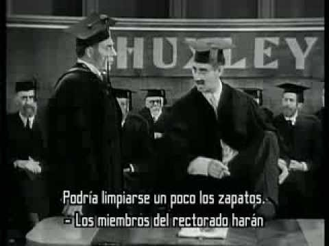 Groucho Marx sings 'I'm against it'