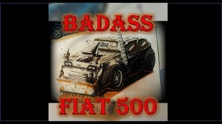How to draw a cool badass Fiat 500