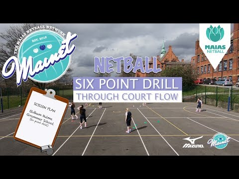 Netball Drills - The Six Point Drill