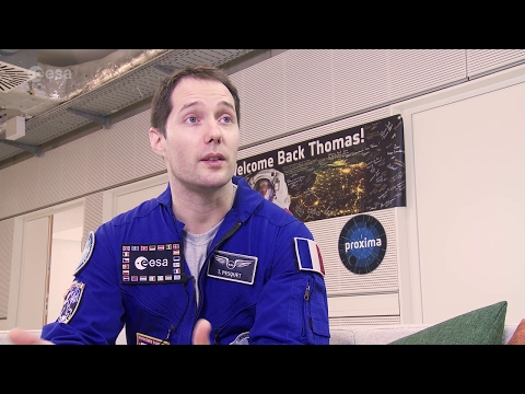 Thomas Pesquet's first post-flight interview (French)