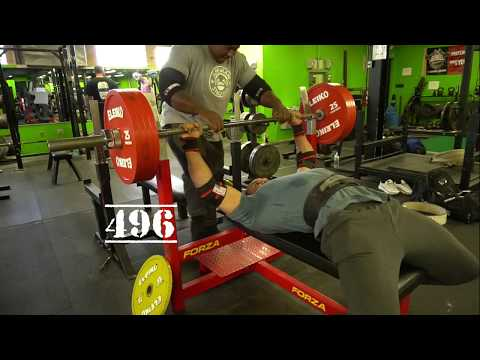 495x8,485x9 Raw Bench. 605x2 Double With Band Larrywheels