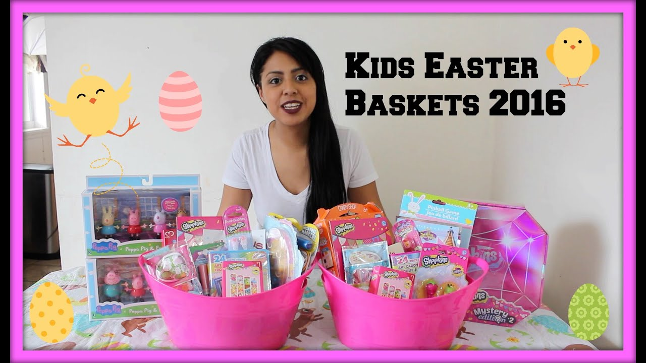 Kids easter basket ideas 2016new shopkin goodies youtube negle Images