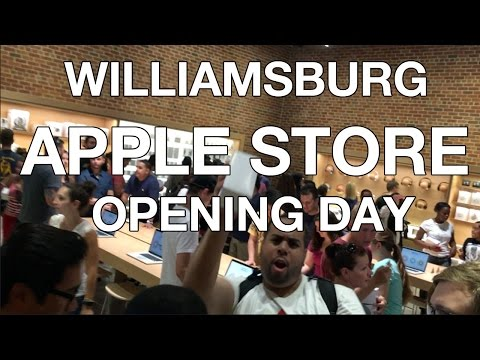 Apple Store Opening in Williamsburg Brooklyn