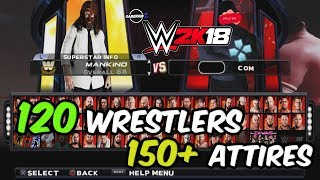 WWE 2K18 PSP, Android/PPSSPP - Final Roster for v1.77