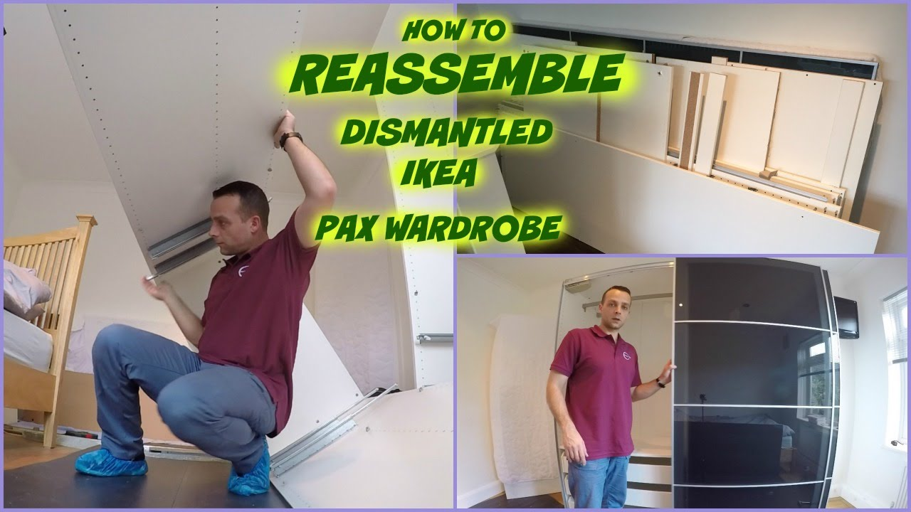 Ikea Pax Wardrobe Sliding Doors Reassembling Second Time Youtube