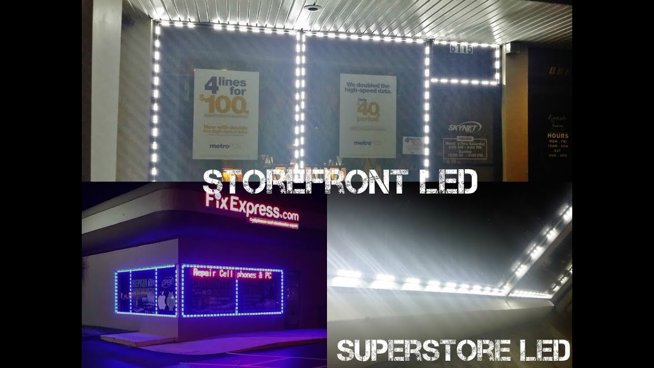 Storefront Led Lights Installed Led Modules Flexible Led