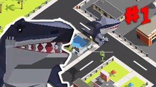 МОНСТРЫ В ГОРОДЕ [1] Уничтожаем город монстрами Мультик игра на Андройд (Smashy City - 1 серия)