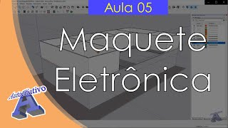 Curso de Maquete Eletrônica com SketchUp - Aula 05/50 Aplicar Paredes - Autocriativo