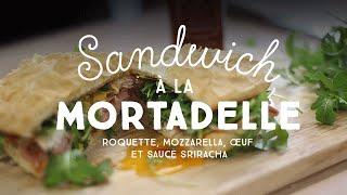 Meilleur Sandwich Du Monde !  (mozarella / Mortadelle / Roquette / Oeuf / Sauce Sriracha)