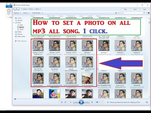 Set Your Photos Mp3/ Audio Background Using Windows Media Player.(Hindi-Urdu)
