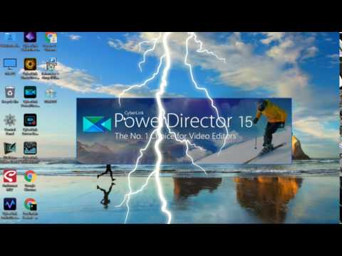 Efek Suara Petir dan Hujan - Power Director 15 - Link Download Cek Deskripsi