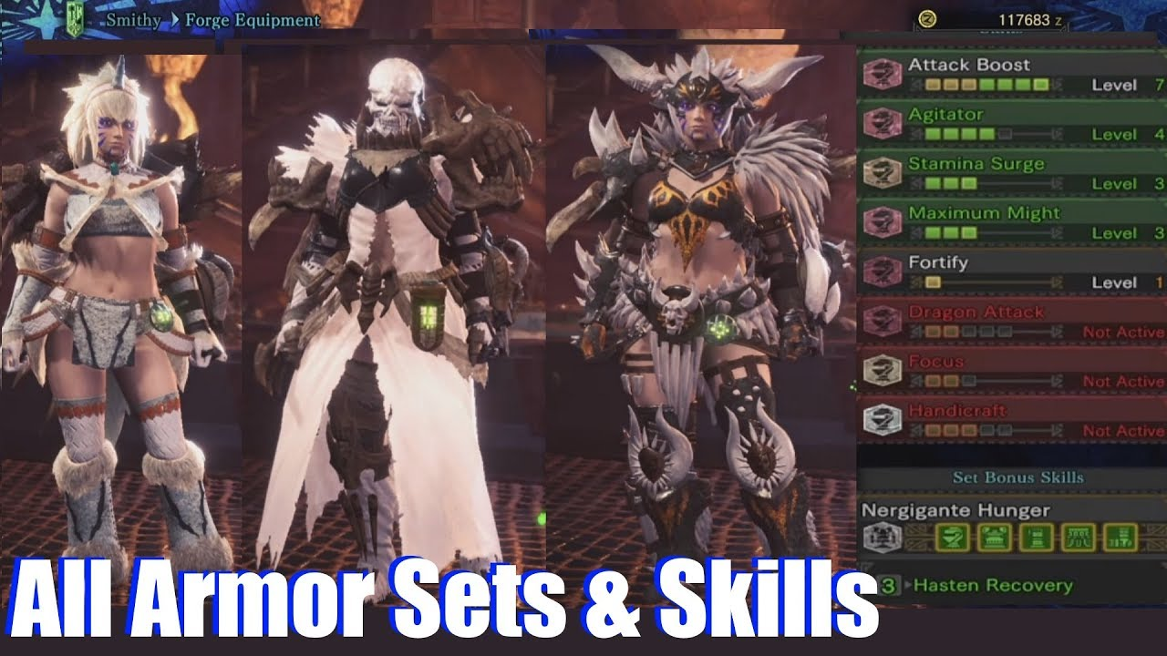 Monster Hunter World All Armor Sets Armor Skills Female 104
