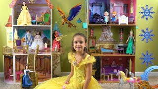 Princess Story: Princess Bell is Invited to Sing in Frozen Anna and Elsa Castle with Elena of Avalor