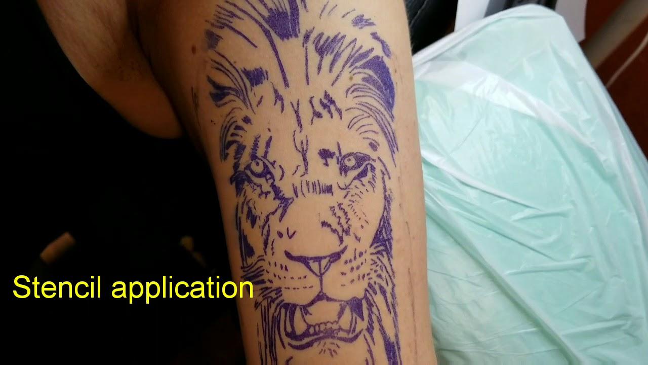 Lion Tattoo On Female Left Upper Arm By Boris Kuryakin March 13
