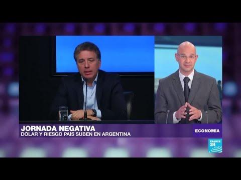 """Miércoles """"negro"""" en Argentina: el dólar y prima de riesgo disparados"""