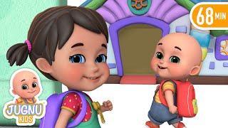First Day of School Song   kids cartoon + More Jugnu Kids Baby Nursery Rhymes & Kids Songs
