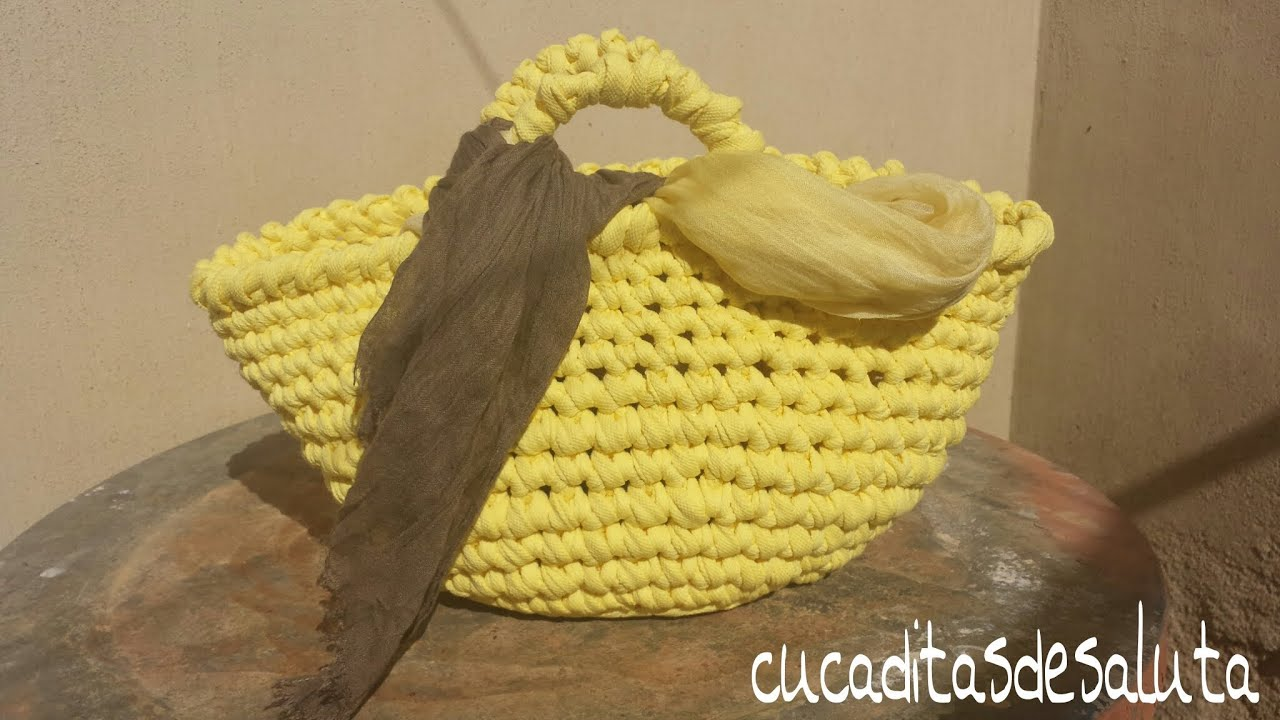 CAPAZO A TRAPILLO PASO PASO !!TUTORIAL DIY ¡¡ / Basket of Trapillo step by step. , YouTube