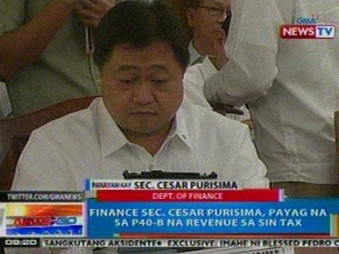 NTG: Panayam kay Dept. of Finance Sec. Cesar Purisima (Oct. 18, 2012)