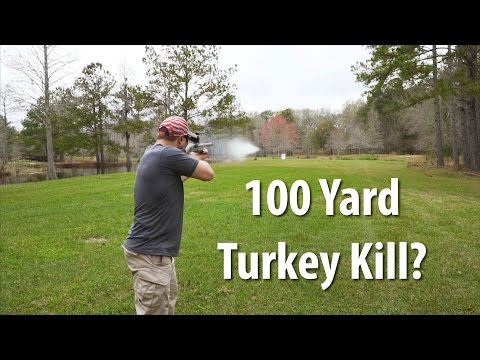 Turkey Hunting: 100 Yard Turkey Kill With A Shotgun? | Gould Brothers