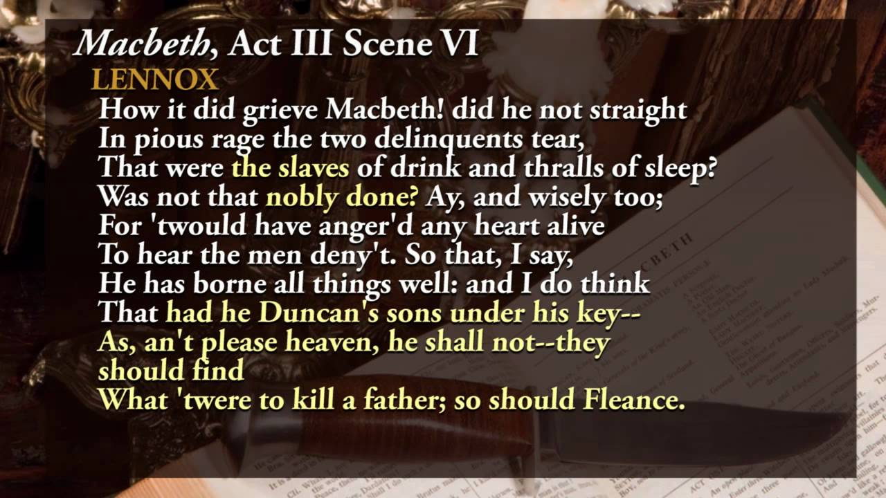 macbeth the climax in act 3 Act 5 is packed with dramatic moments as the play reaches its climax  scene 3  macbeth is furious that malcolm is approaching he is told that lady macbeth.