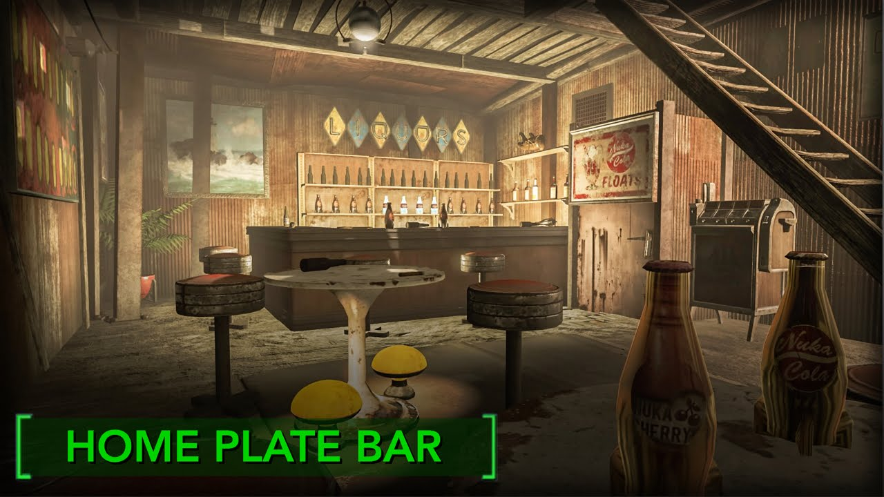 Fallout 4 Home Plate Bar Redecorating Home Plate