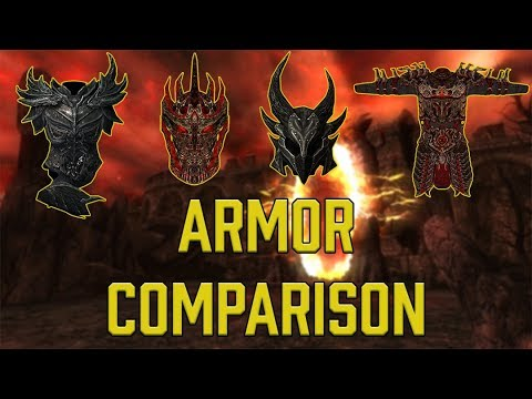 Daedric Armor In Every Elder Scrolls Game Comparison And Showcase!