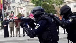 Demonstrație jandarmeria clujană