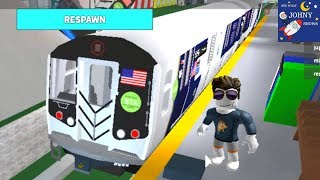 Johny's Roblox MTA Subway Train Ride & Train Crash