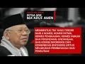 Rekaman Kesaksian Ketua MUI KH Ma'ruf Amin dalam Sidang Ahok