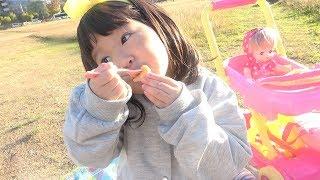 メルちゃんお弁当のおもちゃでピクニックごっこ!お料理ごっこ 嫌いな野菜も残さず食べるよ!