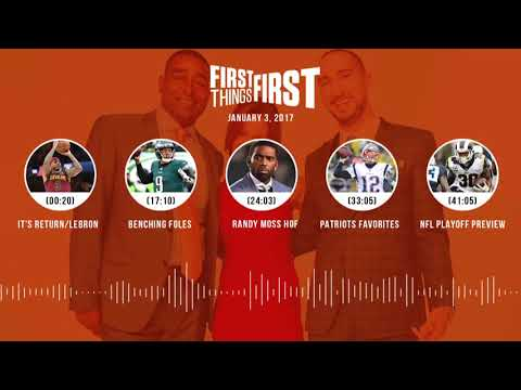 First Things First audio podcast (1.3.18) Cris Carter, Nick Wright, Jenna Wolfe | FIRST THINGS FIRST