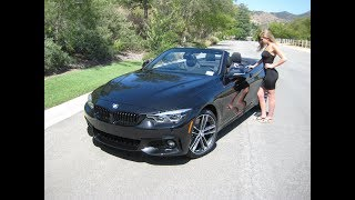 "2019 BMW 440i Convertible / Exhaust Sound / 19"" M Wheels / BMW Review"