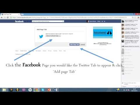 How to add a Twitter Tab to your Facebook Business page by Introtweet