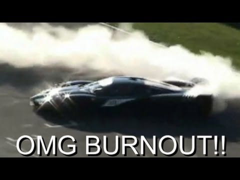 Michael Schumacher in Ferrari FXX Burnouts & Accelerations!!