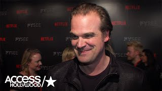 David Harbour On His Dinner With Original 'Hellboy' Ron Perlman; Wrapping 'Stranger Things' S2