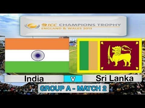 (Cricket Game) ICC Champions Trophy - India v Sri Lanka (Group A Match 2)