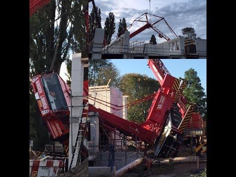 Berging van omgevallen Spierings mobiele torenkraan in Haarlem