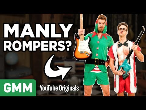 Download Youtube: Modeling Christmas Rompers For Men
