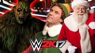 SANTA CLAUS AND ELF'S VS KRAMPUS   WWE 2K17