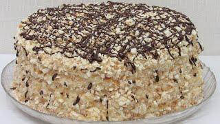 Сможет каждый Торт СМЕТАННИК без выпечки Коржи для торта на сковороде и крем простейший