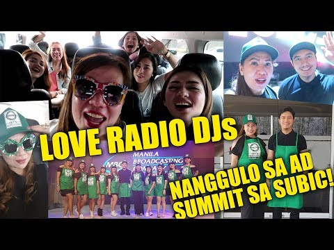 LOVE RADIO DJs NANGGULO sa Ad Summit 2018 sa SUBIC