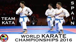 BRONZE MEDAL. Male Team Kata SPAIN. 2016 World Karate Championships.