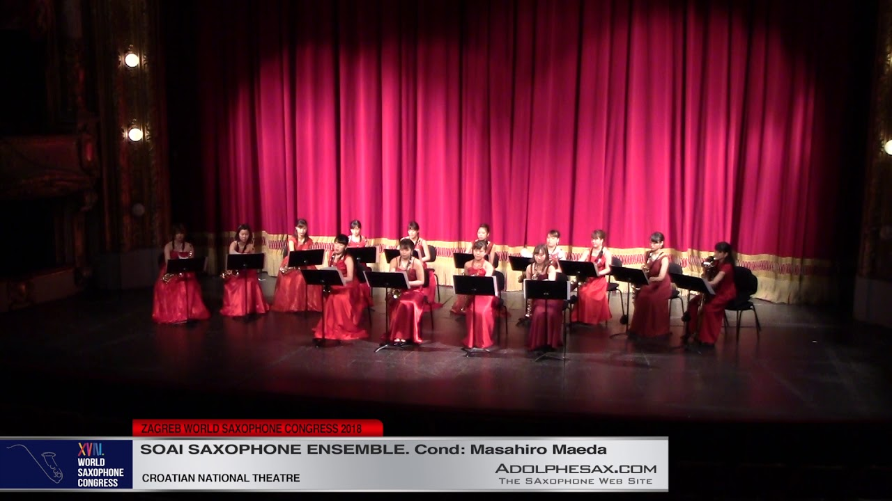 Deux Arabesques by Claude Debussy    Soai Saxophone Ensemble   XVIII World Sax Congress 2018 #adolph