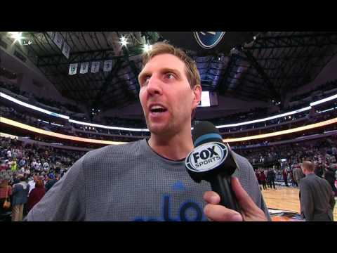 Dirk Nowitzki Post Game Interview and Crowd Address in Dallas | 03.07.17